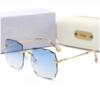 Wholesale glass coating resin resale online - Top Quality Glass Lens Square Frame Fashion Women Coating Sunglasses Summer Designer Vintage Gradient Driving SunGlasses With Original Box