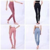 Wholesale gym clothing woman yoga pants for sale - Women Skinny Leggings Colors Sports Gym Yoga Pants High Waist Workout Tight Ninth Yoga Leggings Home Clothing LJJO6332