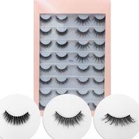 Wholesale l curl eyelash resale online - 16 Pairs Multipack D Mink Hair False Eyelashes Natural Wispy Fluffy Long Lashes Natural Eye Makeup Tools Faux Eye Lashes