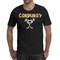 camisa de pana para hombre l al por mayor-Pearl Jam Corduroy logo diseño de camiseta para hombre negro camisas divertidas locas amigos camiseta casual