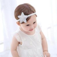 fotos lindas del bebé de la muchacha al por mayor-New Cute Baby Girl Star Headband Kids Hair Band Headwrap Princess Headband Photo Prop Niños Accesorios para el cabello
