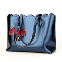 Wholesale ladies genuine cow leather handbag for sale - Group buy New handbags women tote causal fashion genuine cow leather shoulder bags large bag elegant lady handbag