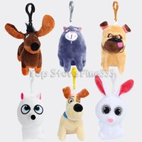 jogos de animais de estimação venda por atacado-A Vida Secreta de Animais De Pelúcia Keychian Novos Animais De Pelúcia De Pelúcia Brinquedos 10 CM 6 MODELOS