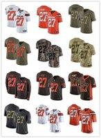 ingrosso numeri marroni-2019 personalizzato qualsiasi numero numa migliore maglia da baseball Wear Cleveland 27 Kareem Hunt Browns uomo / DONNA / YOUTH maglie s-xxxxl