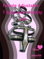 Wholesale female stainless steel underwear resale online - stainless steel chastity belt devicesex toys adult bondage bdsm BDSM Chastity DeviceHIGH QUALITY new female metal underwear