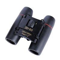 jumelles de nuit mini achat en gros de-Télescope binoculaire 30x60 Mini télescopes Binocle Portable Sakura Extérieur Jour Vision nocturne Zoom Voyage Pliant Bardian 17 5xxf1