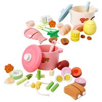 Wholesale play kitchen food sets resale online - Children play house puzzle toy DIY Spring and Autumn Nutrition Soup Kitchen cooking pretend toy Funny Play food kitchen set toy