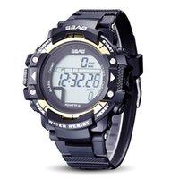 luxus-schrittzähler großhandel-Luxusuhr Großhandel Sport Pedometer Herren Smart Watch Männer Marke Kalorien Wasserdichte Smartwatch Elektronische Armbanduhren Für Männer Digital