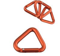 kilitli kanca anahtarlık toptan satış-Büyük boyutları 5.4 cm Üçgen Carabiners yapış kancalar alüminyum tokalar kilitleme karabina klip anahtarlık açık alüminyum alaşım metal kanca alüminyum