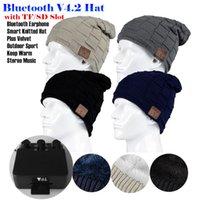 ingrosso carta di tf di musica del bluetooth-Inserire la fessura per scheda TF / SD senza fili Bluetooth V4.2 Cuffia per cappelli con cuffia in velluto