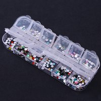 caixa de brilho vazia venda por atacado-1 Pc Caixa De Armazenamento Vazio Caso Prego Transparente Glitter Strass Acessórios Beads Container Casos Decoração De Unhas Ferramenta
