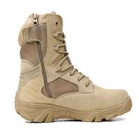 armeekampf stiefel männer großhandel-Männer-Wüsten-Tarnung Tactical Boots Men Outdoor Kampf Armee Stiefel Botas Militares Sapatos Masculino Sportschuhe Man 1A