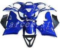 conjunto de carenagem branca yzf r1 venda por atacado-New Hot ABS motocicleta Fairing Kits Fit Para YAMAHA YZF-R1 98 99 YZF1000 1998 1999 R1 carenagem conjunto de carroçaria personalizado azul branco FR