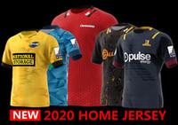 nakliye formaları toptan satış-Yeni Zelanda Süper Rugby Jersey 2020 Highlanders ev Jersey Hurricanes maviler Rugby Formalar gömlek büyük beden s-5XL EMS ücretsiz gönderim