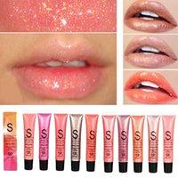 ingrosso perle liquide-SR Glitter Lip Gloss Tint Long Lasting Idratante perlato Crystal Lip Gloss Nutriente Shimmer Liquid Lipstick Beauty Lips Makeup