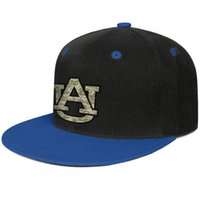 Wholesale class printing for sale - Group buy Auburn Tigers basketball camouflage logo Blue mens and womens hip hop flat brim cap cool fitted golf blank fashion baseball team best class