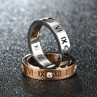 Wholesale roman numerals jewelry for sale - Group buy Crystal Roman Numerals Ring Diamond Numbers Ring Designer Rings Wedding Engagement Rings For Men Women Fashion Jewelry Will and Sandy