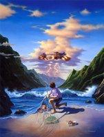 natureza pintura a óleo venda por atacado-Art Jim Warren dos desenhos animados Não suje com a mãe natureza, pintura a óleo reprodução de alta qualidade giclée na Início Art Decor Canvas Modern