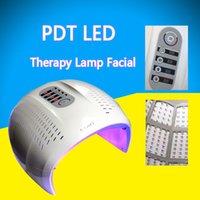 liderliğindeki yüz hafif terapi makinesi maskesi toptan satış-Sıcak Satış Katlanabilir 3 Renk LED Yüz Tedavi Foton Terapi Maskesi PDT Cilt Gençleştirme Yüz Güzellik Makinesi LED Işık Terapi