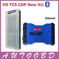 r2 tcs cdp al por mayor-Nuevo diseño VD TCS CDP pro plus 3in1 con led Multi-language 2014.R2 02 versión bluetooth Caja de cartón Envío gratuito por CN