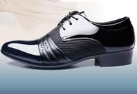 i̇talyan ayakkabı patenti toptan satış-Patent deri siyah İtalyan mens ayakkabı markaları için düğün resmi oxford ayakkabı mens sivri burun elbise ayakkabı sapato masculino