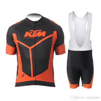Wholesale ktm racing jersey resale online - Cycling Jersey KTM Team racing Bike Clothing Breathable Ropa ciclismo hombre Short Sleeve Shirts bicycle bib shorts Sportswear J2002