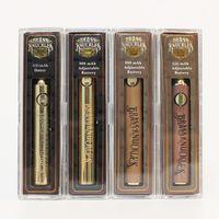 usb-akku-ladegerät großhandel-BK 650mah 900mah Vape Batterie Messing Knuckles Batterie Gold Holz 510 Gewinde Vape Stift USB-Ladegerät Crystal Pack für Messing Knuckles Patronen