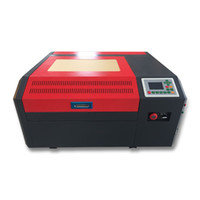 lazerle kesilmiş kâğıt cam toptan satış-kontrplak kesmek için Yeni 50W CO2 Laser 4040 lazer oyma makinesi, ahşap, MDF, akrilik, Crytal, Cam, Kağıt, Plastik, pleksiglas