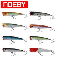 Wholesale vmc soft baits for sale - Group buy lure skirt NOEBY Popper Fishing Lure mm g VMC Hook Top Water Popper Bait Isca Artificial Bait Pesca Peche Leurre Souple