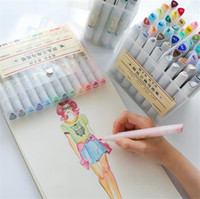 Wholesale colors for paintings plastics resale online - 12 Colors Dual Tips Watercolor Brush Marker Pen Set with Fineliner Tip for Coloring Books Drawing Highlighting