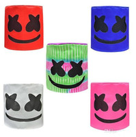 niños azules orejas de sombrero al por mayor-Marshmello DJ Mask Unisex DJ Marshmello Headwear MarshMello DJ Hats Full Head Helmet Halloween Cosplay Mask Party Cosplay Mask 20pcs