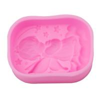 moldes de silicone 3d para sabão venda por atacado-Formulário de Anjo 3D Moldes De Silicone Handmade Soap Mold Silicone Moldes De Modelagem De Gelo Pastelaria Bolo Ferramentas de Decoração Do Bolo