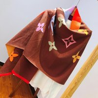 dicke schalverpackung großhandel-Mode verdicken Schals Kaschmir fühlen Ponchos Pashmina Winter Capes Designer Oversize Herbst dicke warme Strickschals Decke Frauen Schal wickeln