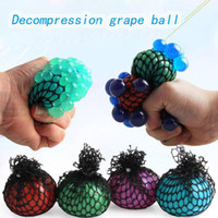 Wholesale purple toys resale online - Anti Stress Mesh Decompression Grape Ball CM Latex Colorful Relief Ball Stress Autism Mood Relief Hand Wrist Squeeze Toy For Kid toys