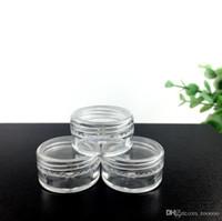 boş makyaj konteynerleri ücretsiz gönderim toptan satış-5G Taşınabilir Boş Plastik Kozmetik Krem Kavanoz Pot Göz Farı Makyaj Yüz Kremi Konteyner Ücretsiz Kargo