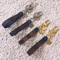 Wholesale lanyard pieces for sale - Group buy Luxury keychain lanyard Designer Fashion Famous Luxury Handmade PU Leather Car Keychain Women Bag Charm Pendant Accessories