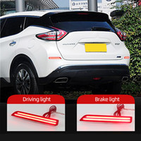 2PCS LED Rear Bumper Reflector Lights for Nissan Murano 2015 2016 2017 2018 2019 Car DRL Turn Signal Tail Fog Lamp