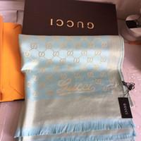 tipo de hilo al por mayor-Hilados de oro brillante y teñido tipo bufanda bufanda de marca bufandas de alta calidad para hombres y mujeres 180 * 70 cm