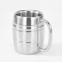 ручка для кемпинга оптовых-Cups Coffee Camping Stainless Steel Home Bar With Handle Double Wall Outdoor Travel Beer