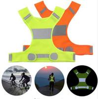 chalecos de seguridad reflectantes al por mayor-Visibilidad Chaleco reflectante Chalecos de seguridad al aire libre Chaleco ciclista Noche de trabajo Correr Deportes Ropa al aire libre Ropa para el hogar MMA1218 200 unids