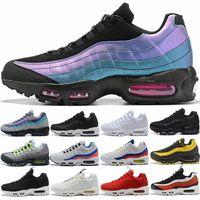 zapatillas de correr talla 12 al por mayor-Nike Air max 95 Diseñador Hombre Mujer 95 Zapatillas SE OG Grape Neon TT Negro Rojo 95s Triple Blanco Zapatillas Deportivas Baratas Tamaño 5.5-12