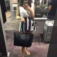 bolsa transportadora de ombro venda por atacado-Novo estilo de venda de moda bolsa mulheres saco de compras bolsa de ombro bolsa de couro Top qualidade grau 33 cm grandes sacos de transporte combinado saco