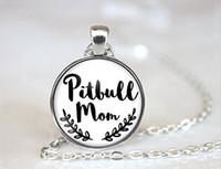 amor de mãe venda por atacado-Colar Da Mamã De Pitbull, Presente Do Amante Do Pitbull, Colar De Pitbull, Amante De Pitbull, Jóia Da Mamã Do Cão, Dia Das Mães