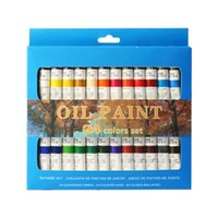 Wholesale colors painting pigment resale online - 24 Colors Professional Oil Painting Paint Drawing Pigment ml Tubes Set Artist