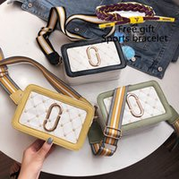Wholesale bread tie for sale - Group buy 2019 Hot new Small bag Crossbody female The New Korean version Wild Small square package Embroidery line Shoulder Bags bread