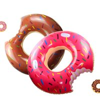 Wholesale toy gears resale online - Outdoor Donut Pool Inflatable Floats Pool Toys Swimming Float Inflatable Donut Swim Ring cm Gear Water Toy MMA2163
