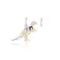 dinozor küpeleri toptan satış-APM Monaco 925 Kristal Elmas Dinozor Küpe Tasarım Kıdemli Küpe Hayvan Ilginç Küpe