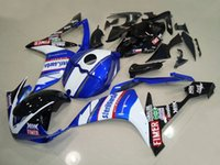 carenados r1 fimer al por mayor-3 regalos de alta calidad Nuevos carenados de motocicleta ABS aptos para YAMAHA YZF-R1 2007 2008 R1 07 08 YZF1000 kits de carenado personalizados azul blanco FIMER