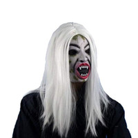 Wholesale hair wig promotion resale online - opening promotion Halloween Long Wig Hair Grudge Sadako Ghost Wig for Halloween Masquerade Party Cosplay Halloween Costumes W