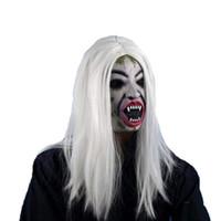 peluca de pelo promocion al por mayor-promoción de apertura-Peluca larga de Halloween Grudge Sadako Ghost Wig para Halloween Masquerade Party Cosplay Disfraces de Halloween (W